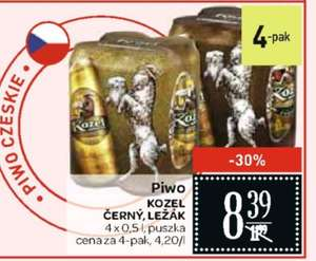 Piwo Kozel 4-Pak (2,10zł za 0,5L) Carrefour