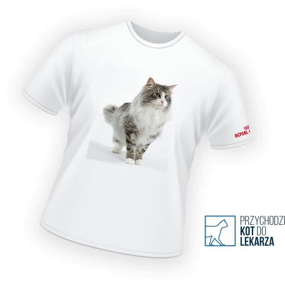 Przy zakupie karmy Royal-Canin otrzymasz koszulkę ze zdjęciem Twojego kota za darmo