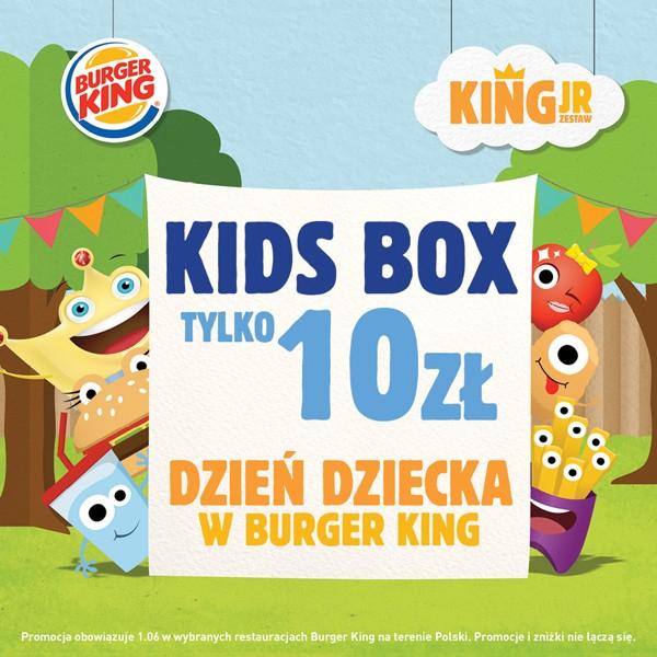 Kids Box za 10zł oraz Whopper Jr. gratis do każdego burgera @ Burger King