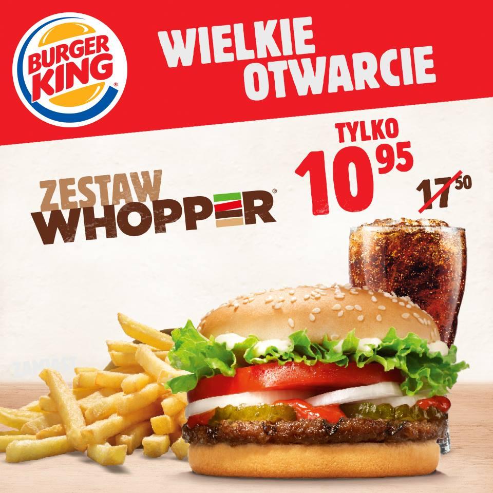 Zestaw Whopper w cenie burgera @ Burger King (Katowice)