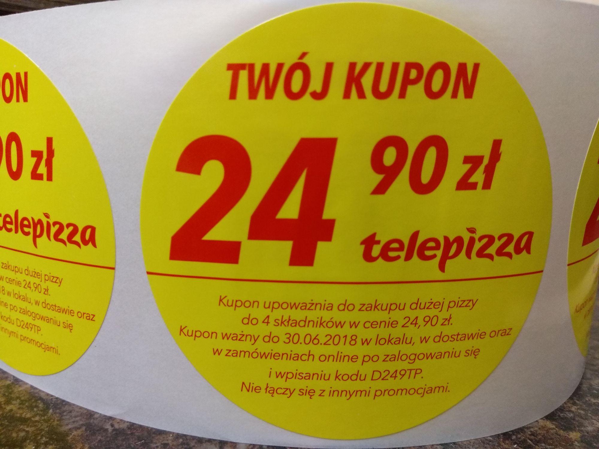 Duża pizza za 24,90 w TelePizzy.