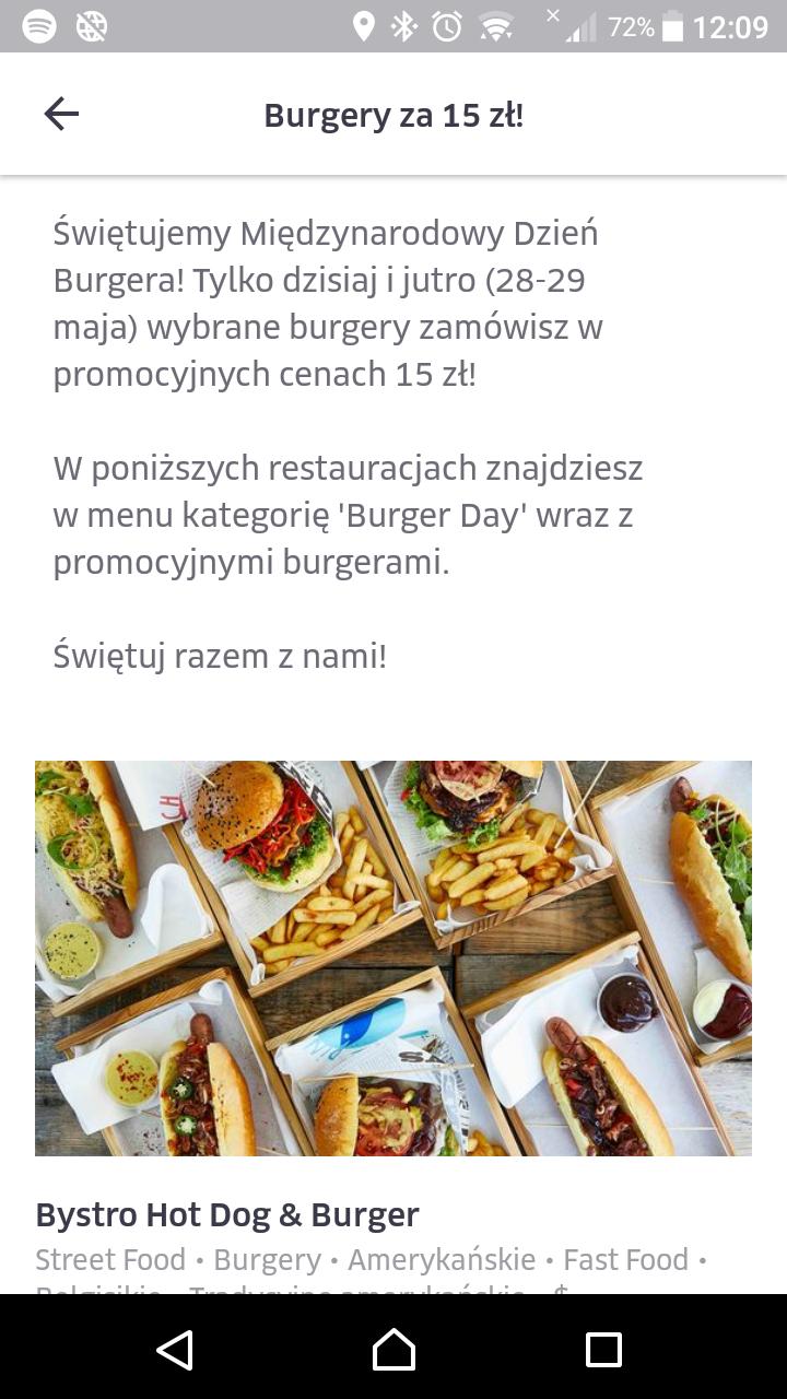 Burgery po 12 zł @ Uber Eats