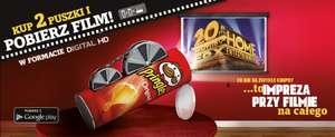 2x Pringles i dodaj film do konta w Google Play
