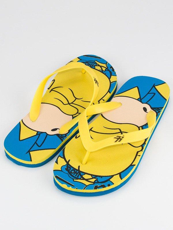 Kolorowe Klapki Japonki Homer Simpson