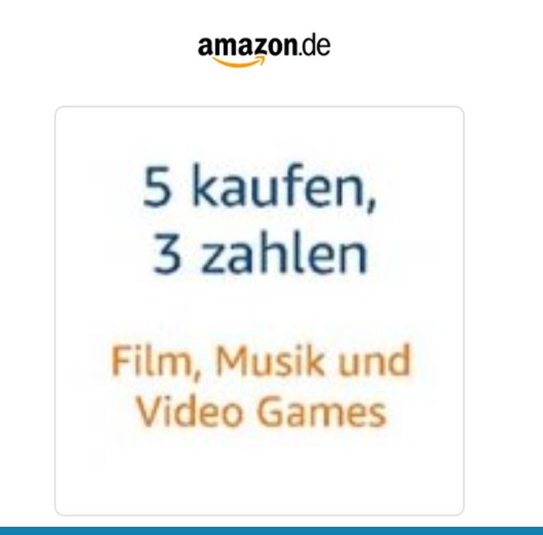 5 w cenie 3 @ amazon.de (muzyka, gry - PC, PS4, XOne, NS, filmy - DVD/BR)