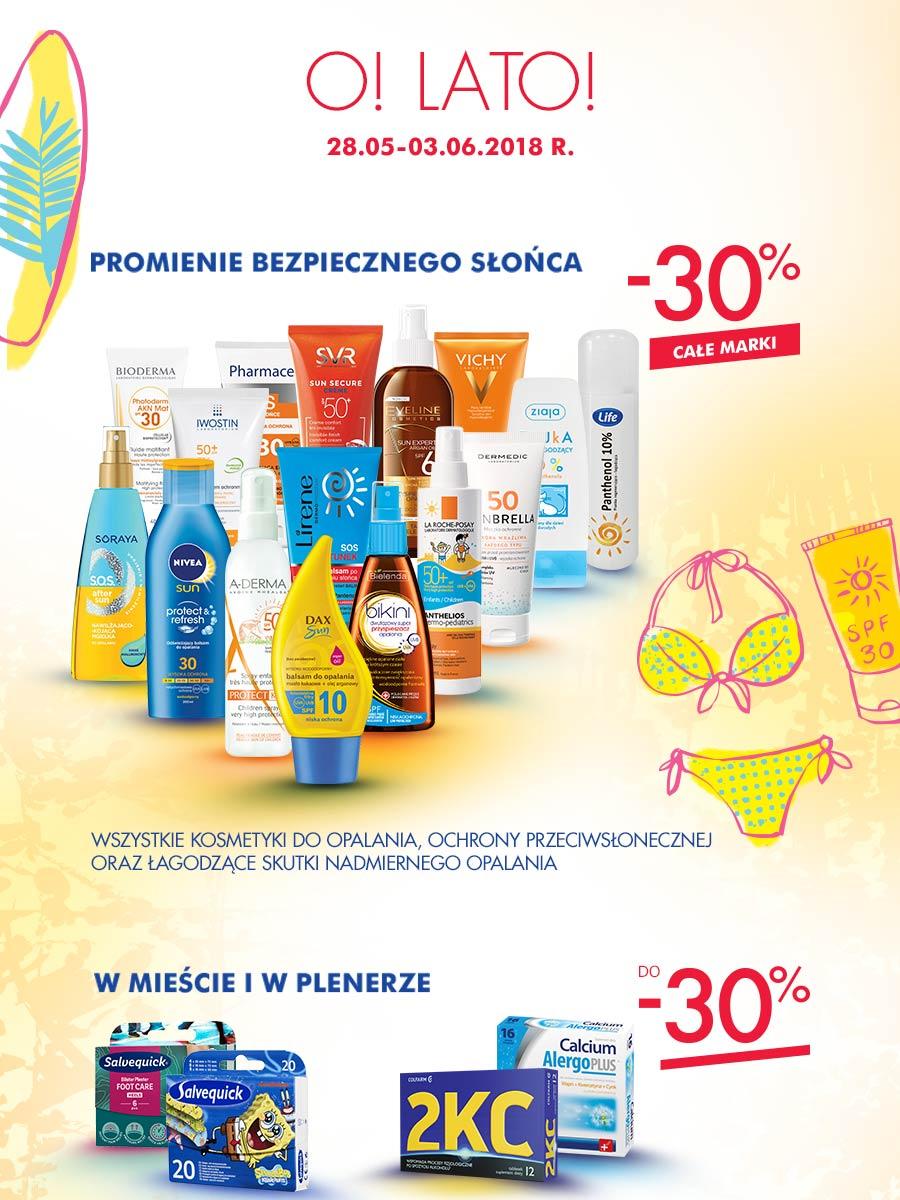 30% rabatu na wszystkie kosmetyki do opalania i ochrony przeciwsłonecznej @ Super-Pharm