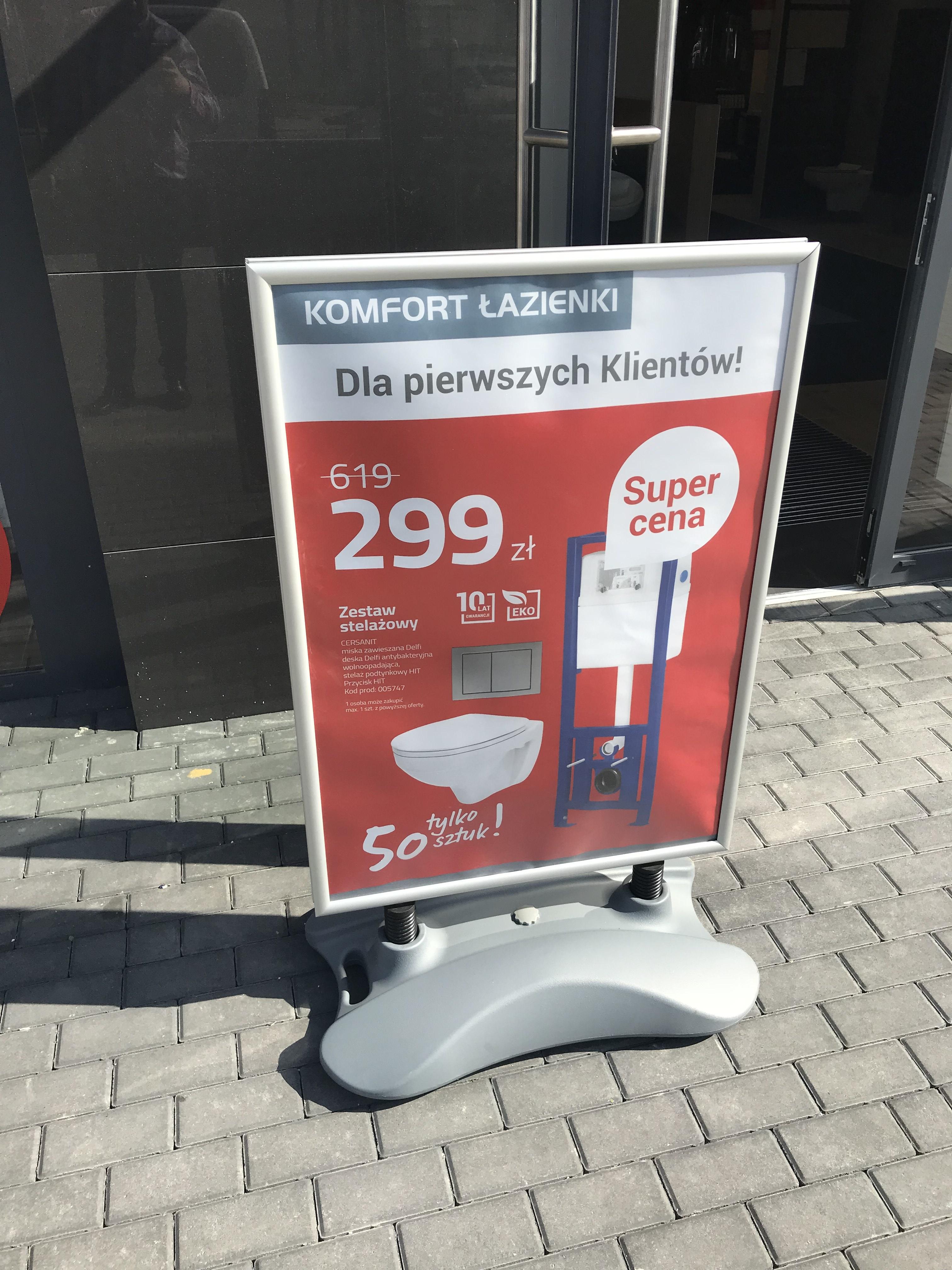 Zestaw Podtynkowy + muszla Cersanit HIT