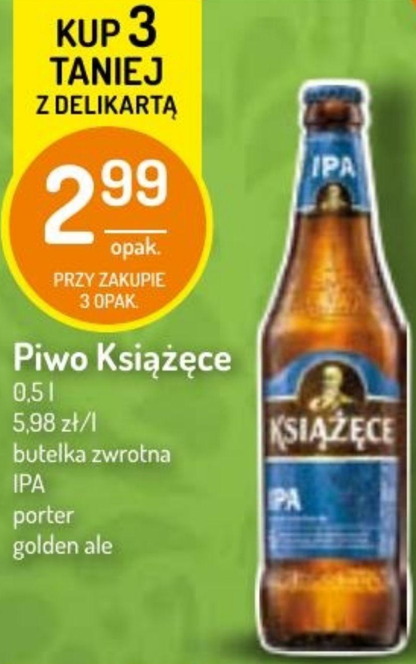3x piwo Książęce: Porter, IPA, Golden Ale (2,99zł za 1 z DeliKartą) @ Delikatesy Centrum