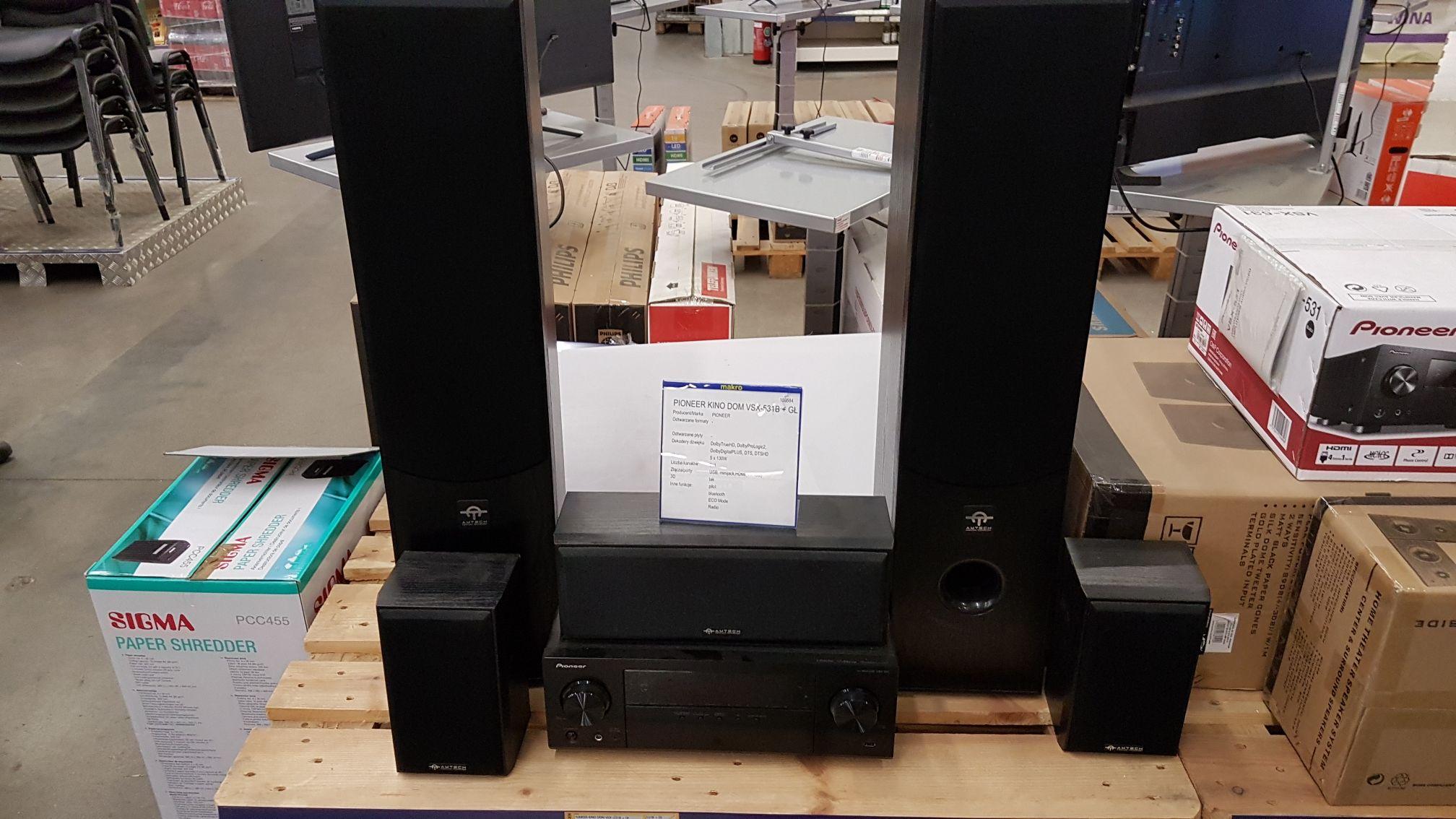 Makro Szczecin  - Amplituner Pioneer VSX-531 + glosniki Amtech HTS 009