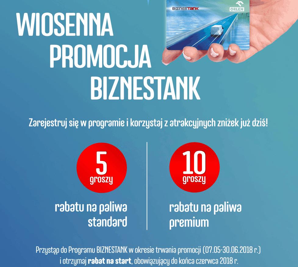 Promocja BIZNESTANK w PKN Orlen