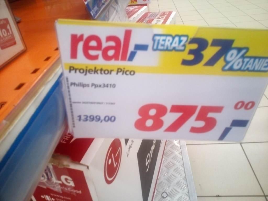 Projektor LED PHILIPS PPX3410 za 875zł zamiast 1399zł @ Real (Poznań)