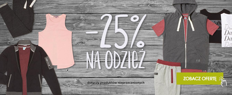 - 25 % na odzież sklep internetowy