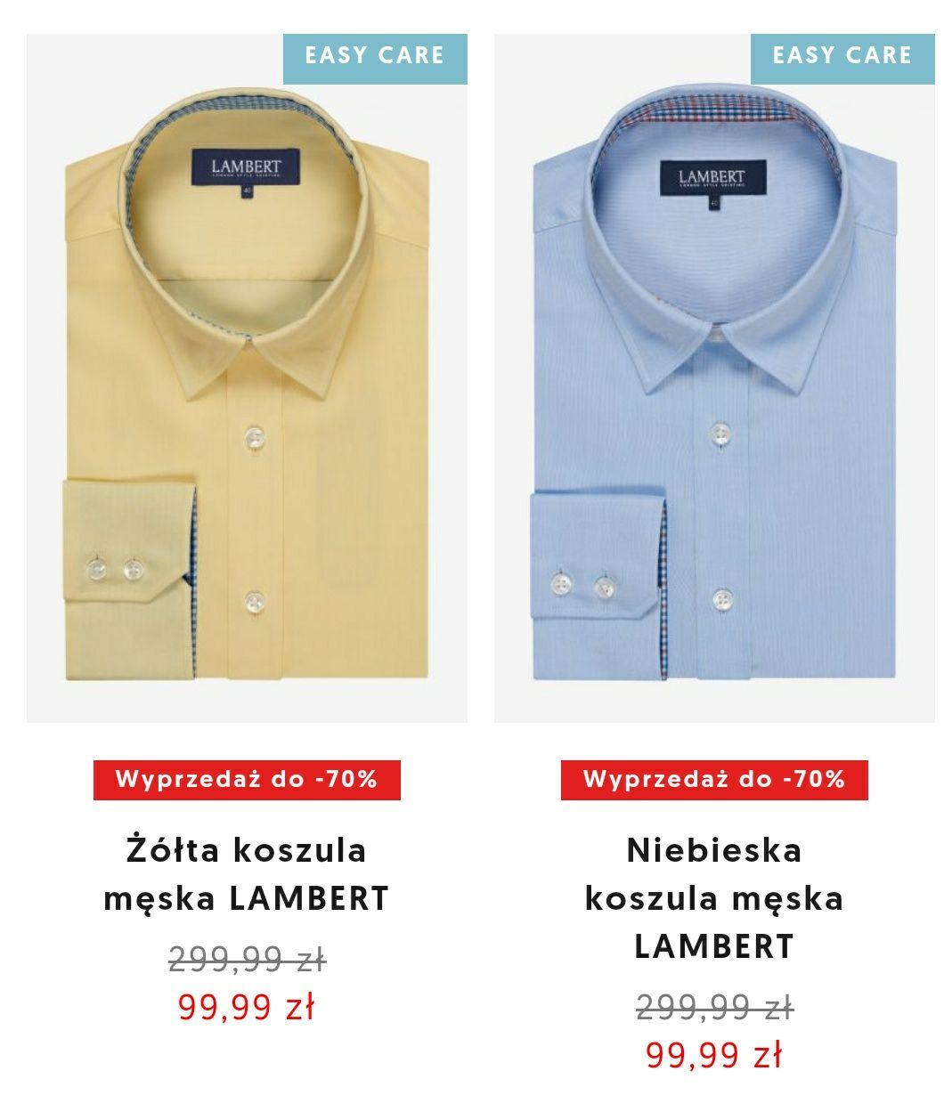 Koszule Wólczanka oraz Lambert do -70%