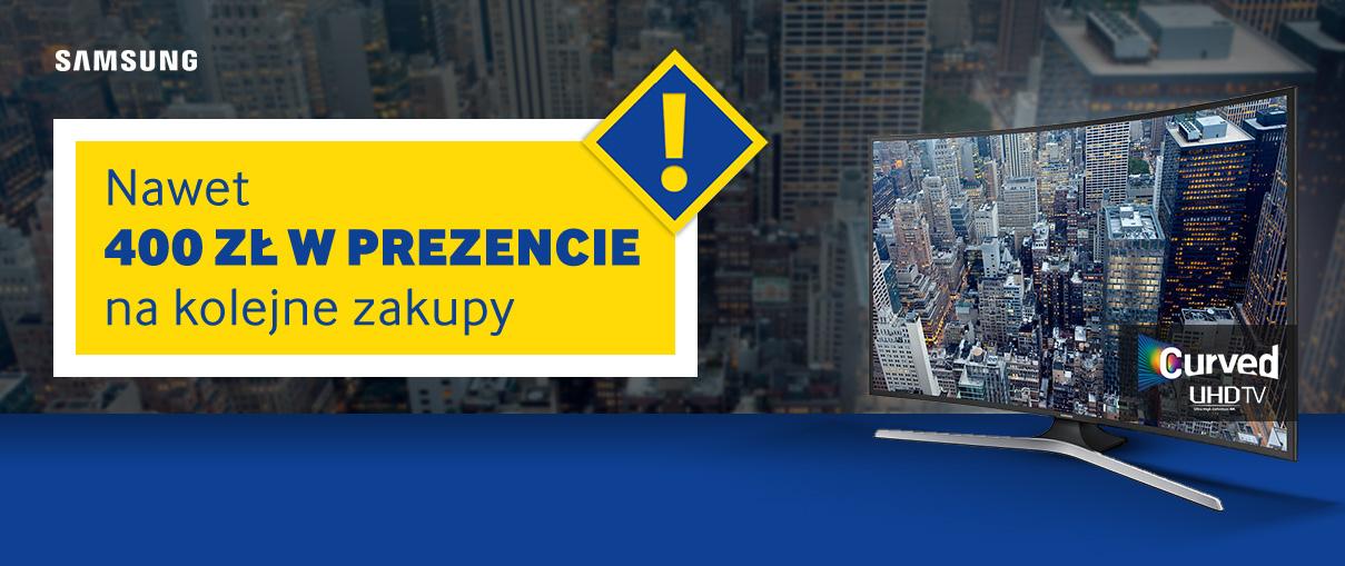 Bon o wartości do 400zł za zakup telewizora marki Samsung @ Euro / RTV Euro AGD