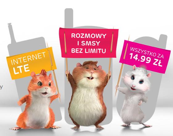 Abonament 14,99zł za no limit rozmowy i sms/mms +5 GB internetu od multimedia.pl