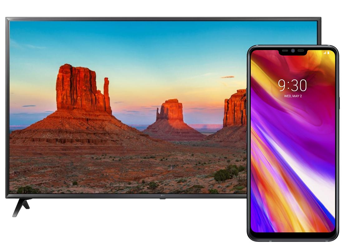 "LG G7 ThinQ + telewizor LG 43"" 43UK6300"