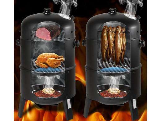 Porządny dwukomorowy grill o konstrukcji zamknietej
