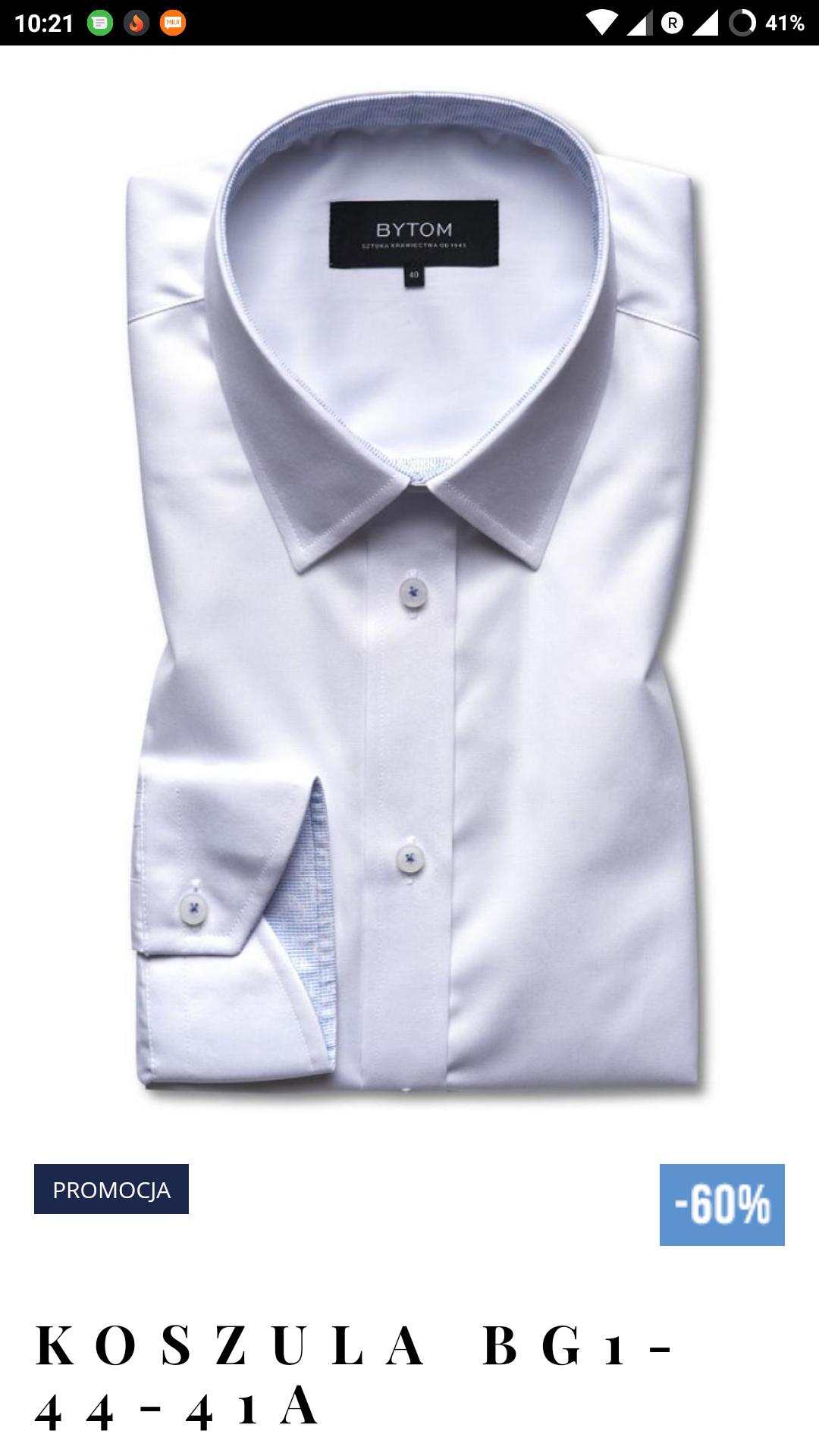 Przecenione koszule Bytom do - 60%