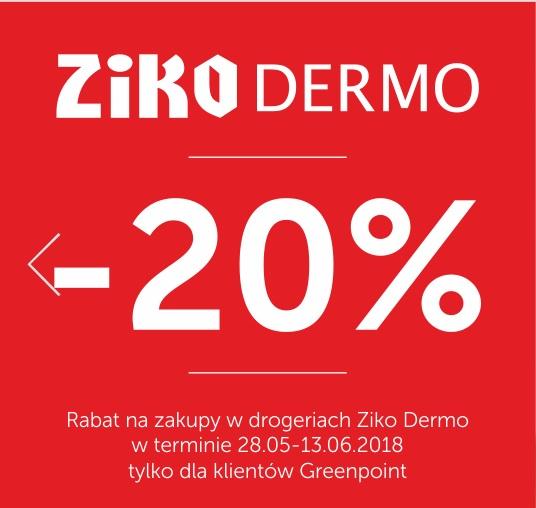 20% rabatu na zakupy w Greenpoint i aptece Ziko
