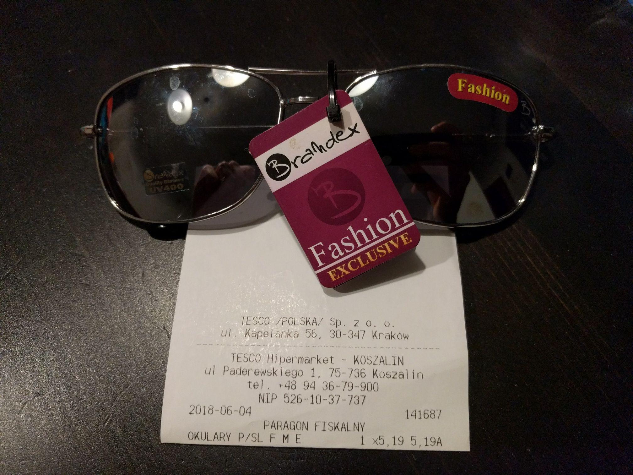 Okulary przeciwsłoneczne Tesco Koszalin