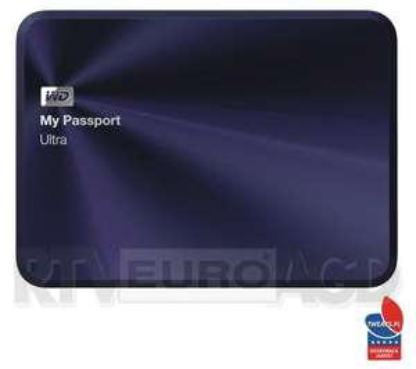 Dysk zewnętrzny 2,5' WD My Passport Ultra Metal Edition 1TB czarno-niebieski za 239zł @ Euro