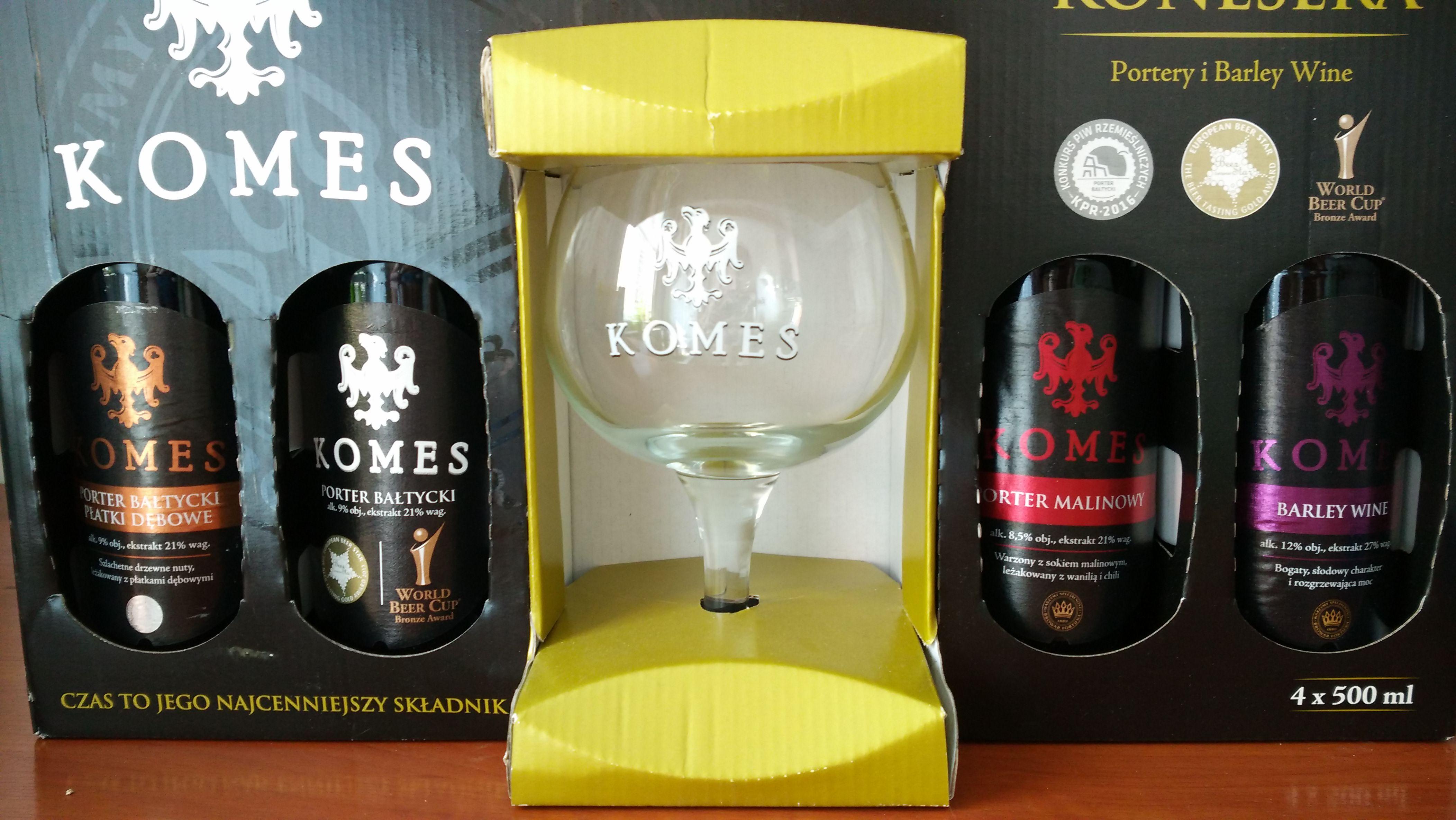 Komes - Zestaw Konesera (Portery i Barley Wine) + Szkło @Tesco