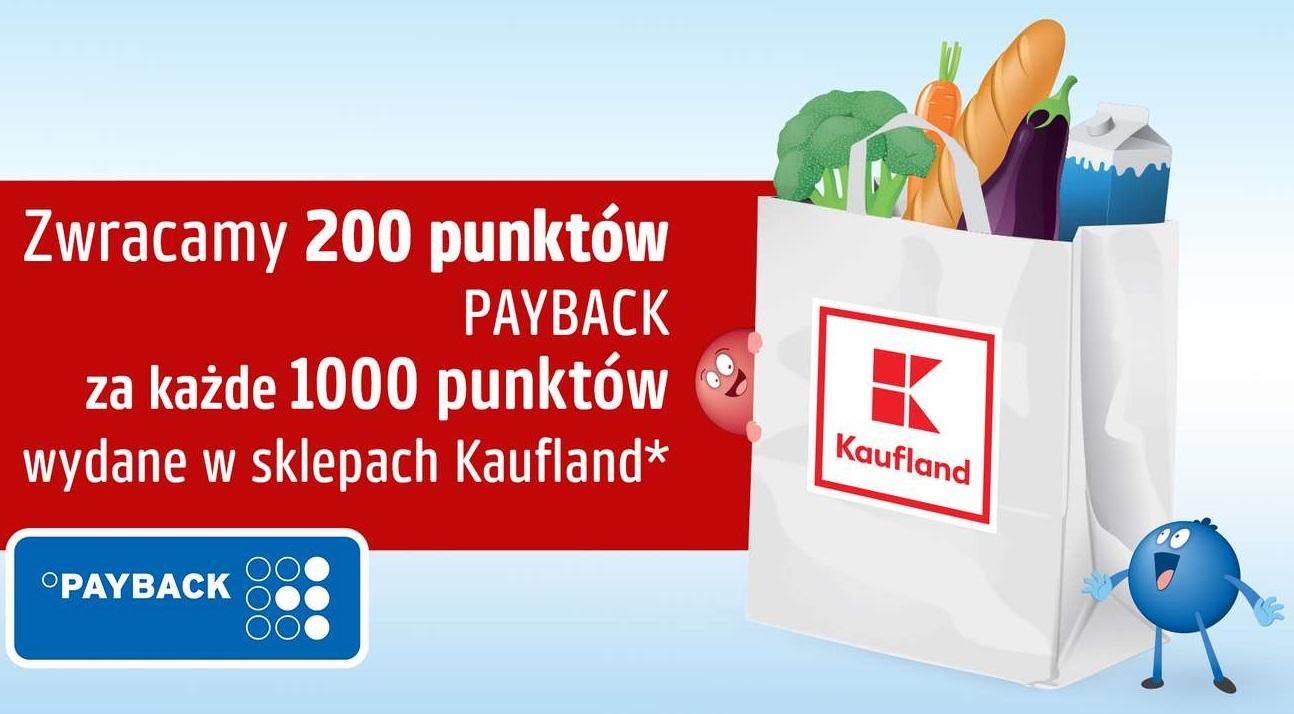 Payback w Kaufland - zwrot 200pkt (2zł) za każde wydane 1000pkt (10zł)