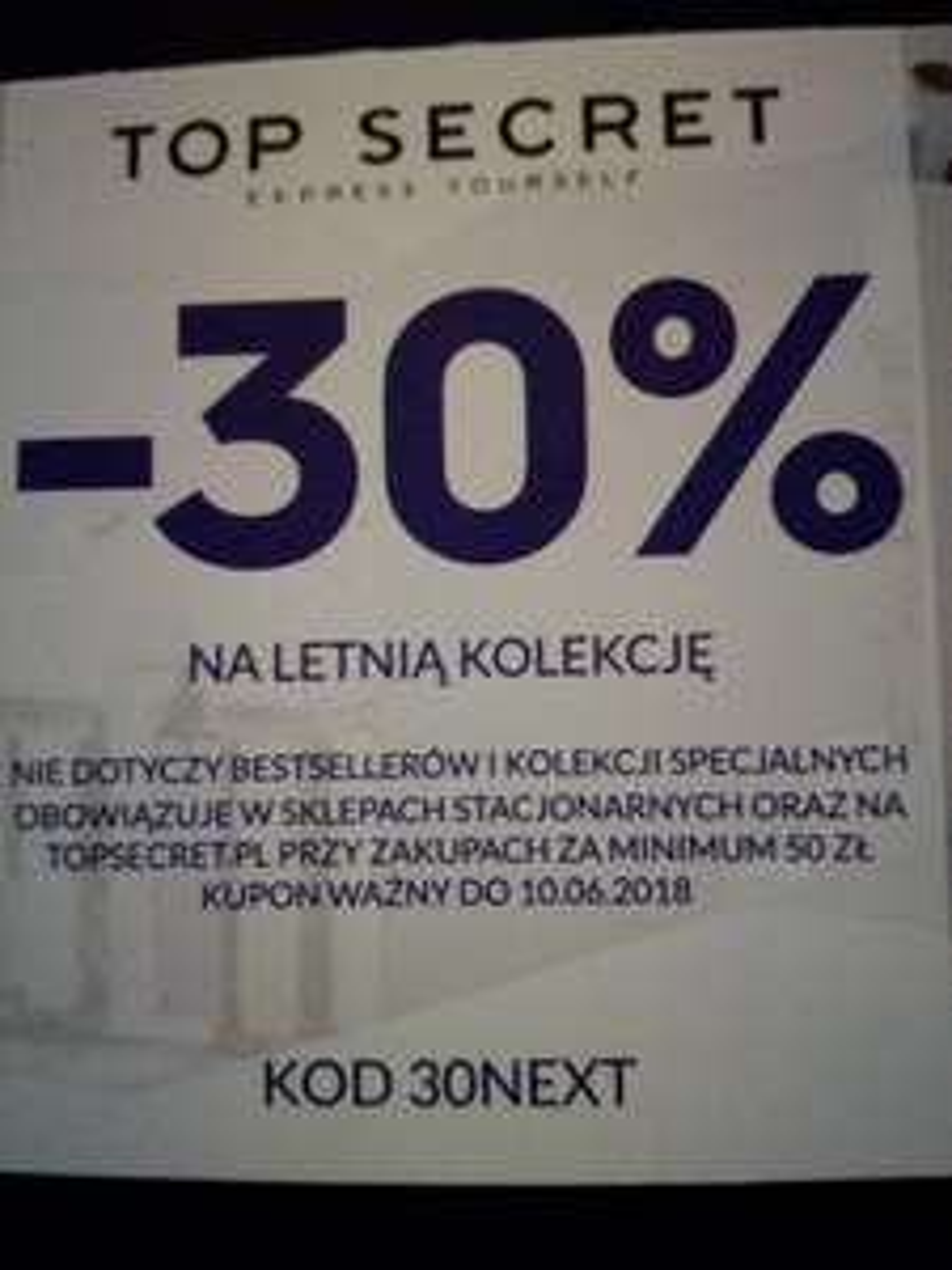 Kod -30% na letnią kolekcję