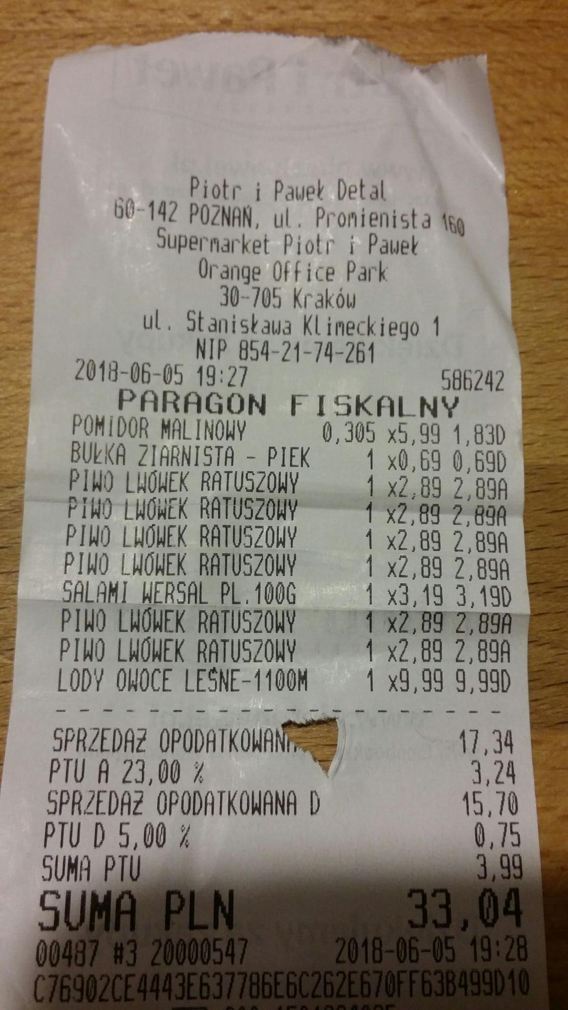 Grycan Lody 1100ml Piotr i Pawel