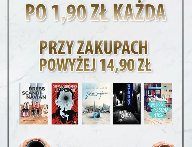 Dwie książki po 1,90zł przy zamówieniu za 14,90zł @ Znak