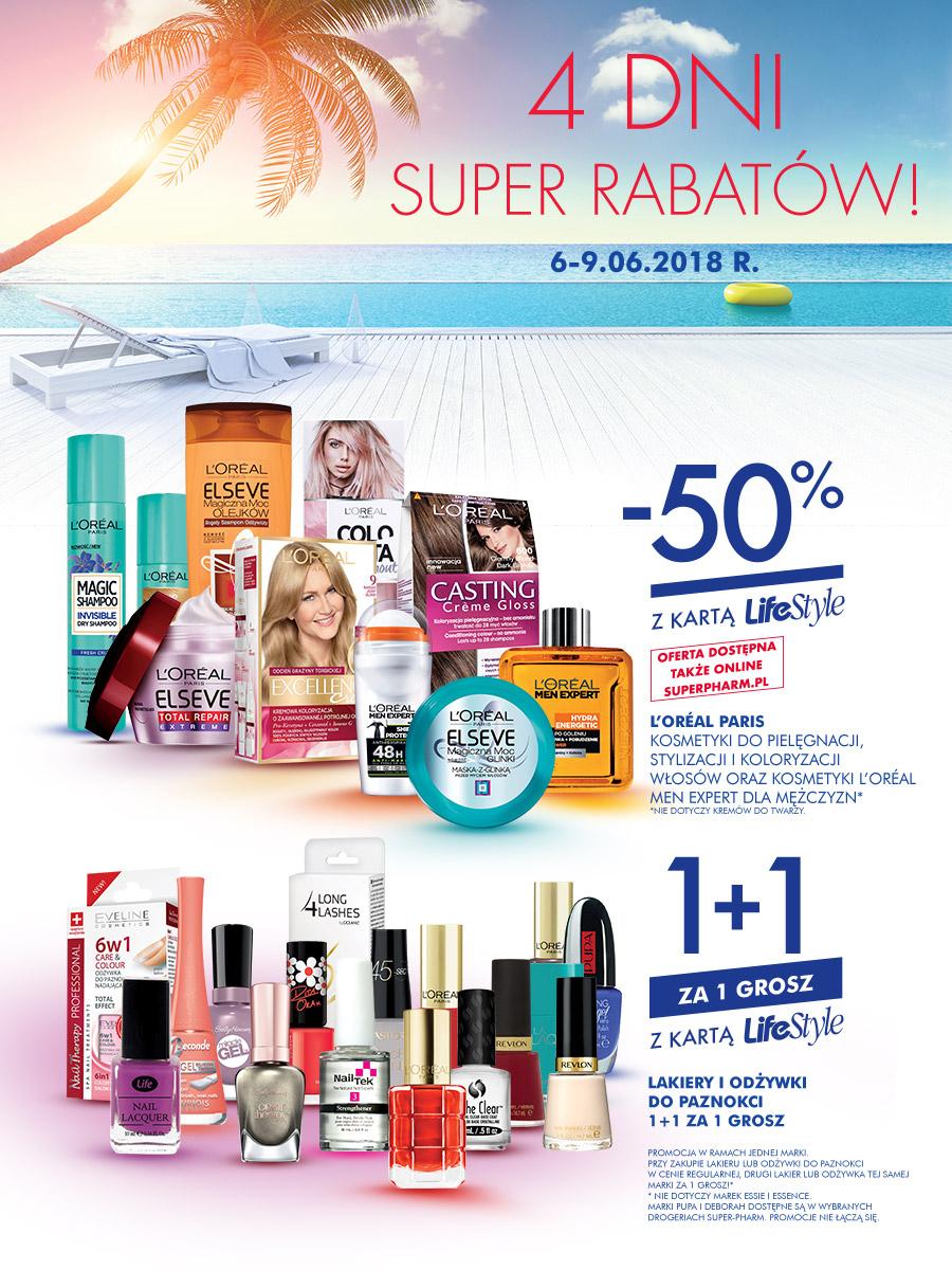 """-50% na całe marki oraz promocje """"1+1"""" (z kartą) @ Super-Pharm"""