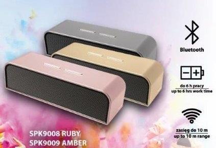 "Głośnik Bluetooth ""Manta"" 2x10W SPK9008, SPK9009, SPK9010"