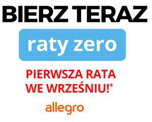 Allegro raty Payu 0% dla aukcji promowanych + pierwsza rata we wrześniu!
