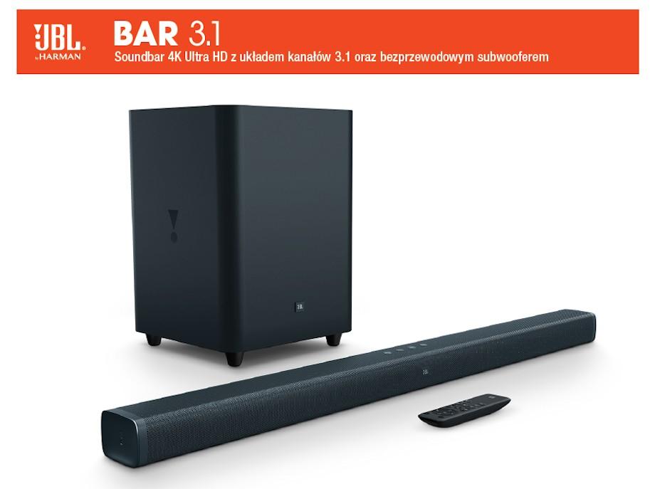 Soundbar JBL BAR 3.1 w atrakcyjnej cenie @RTVEUROAGD