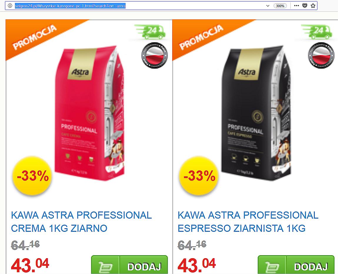 Astra 100% Arabica 1000g