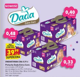 Pieluszki Dada Extra Care za 39,99zł (+ promocja na mleko i słoiczki) @ Biedronka