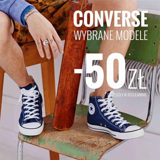 Rabat -50zł na wybrane modele butów Converse @ House