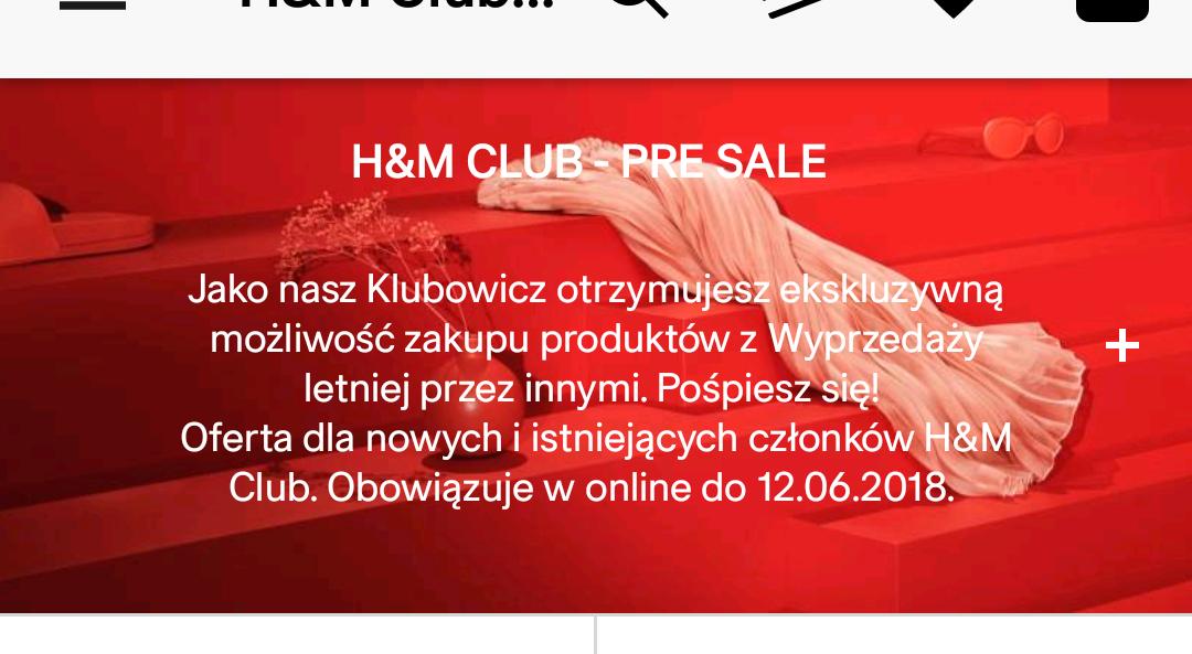 Pre Sale na h&m UWAGA PROMOCJE SIĘ ŁĄCZĄ !