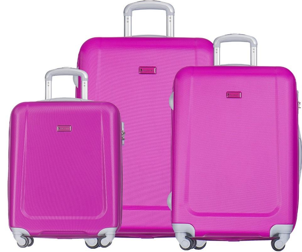 Puccini - zestaw walizek - Ibiza - różowy