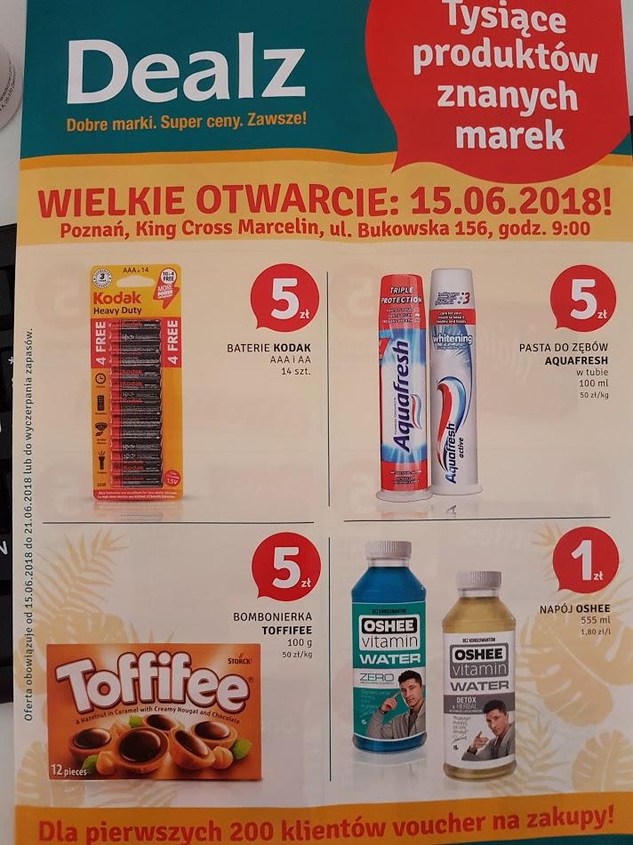 gazetka na otwarcie sklepu DEALZ - Poznań, CH King Cross Marcelin
