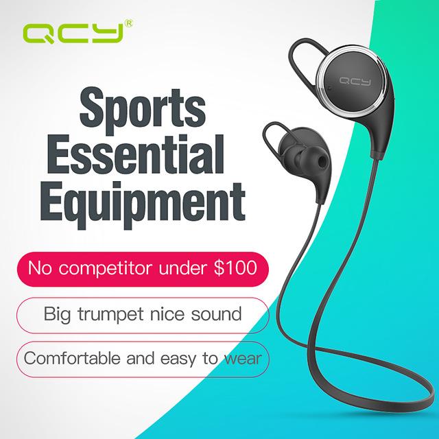 Bezprzewodowe słuchawki bluetooth QCY QY8 - sportowe, wodoszczelne