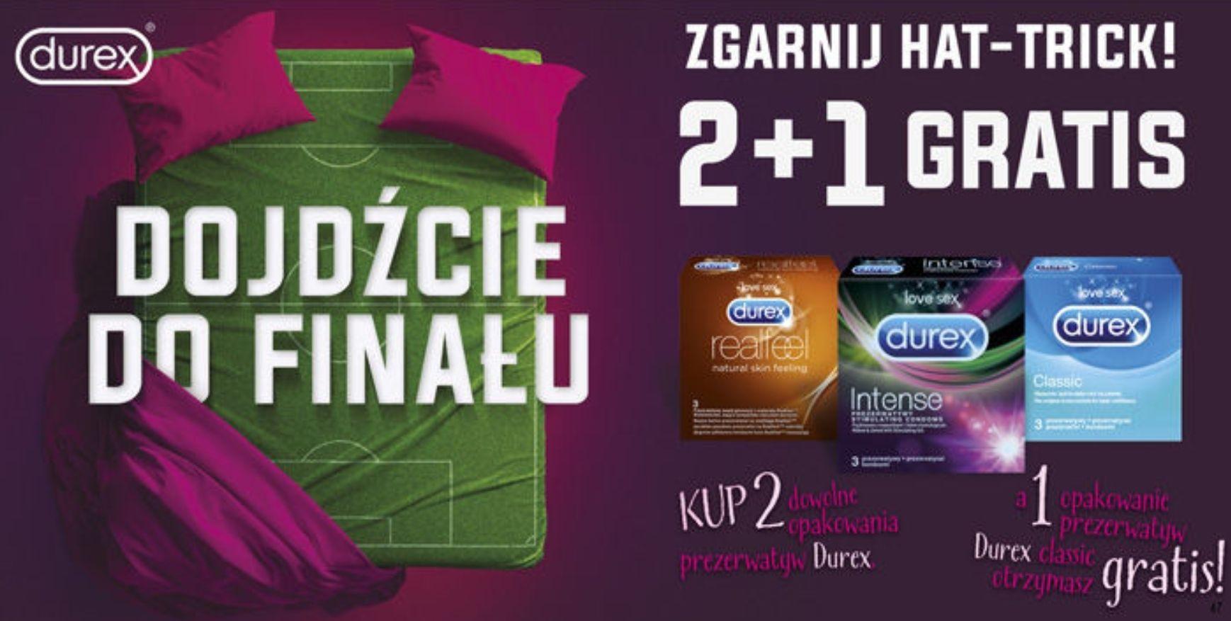 Durex - dojdźcie do finału, zgarnij hat-trick! 2+1 gratis @ Stokrotka