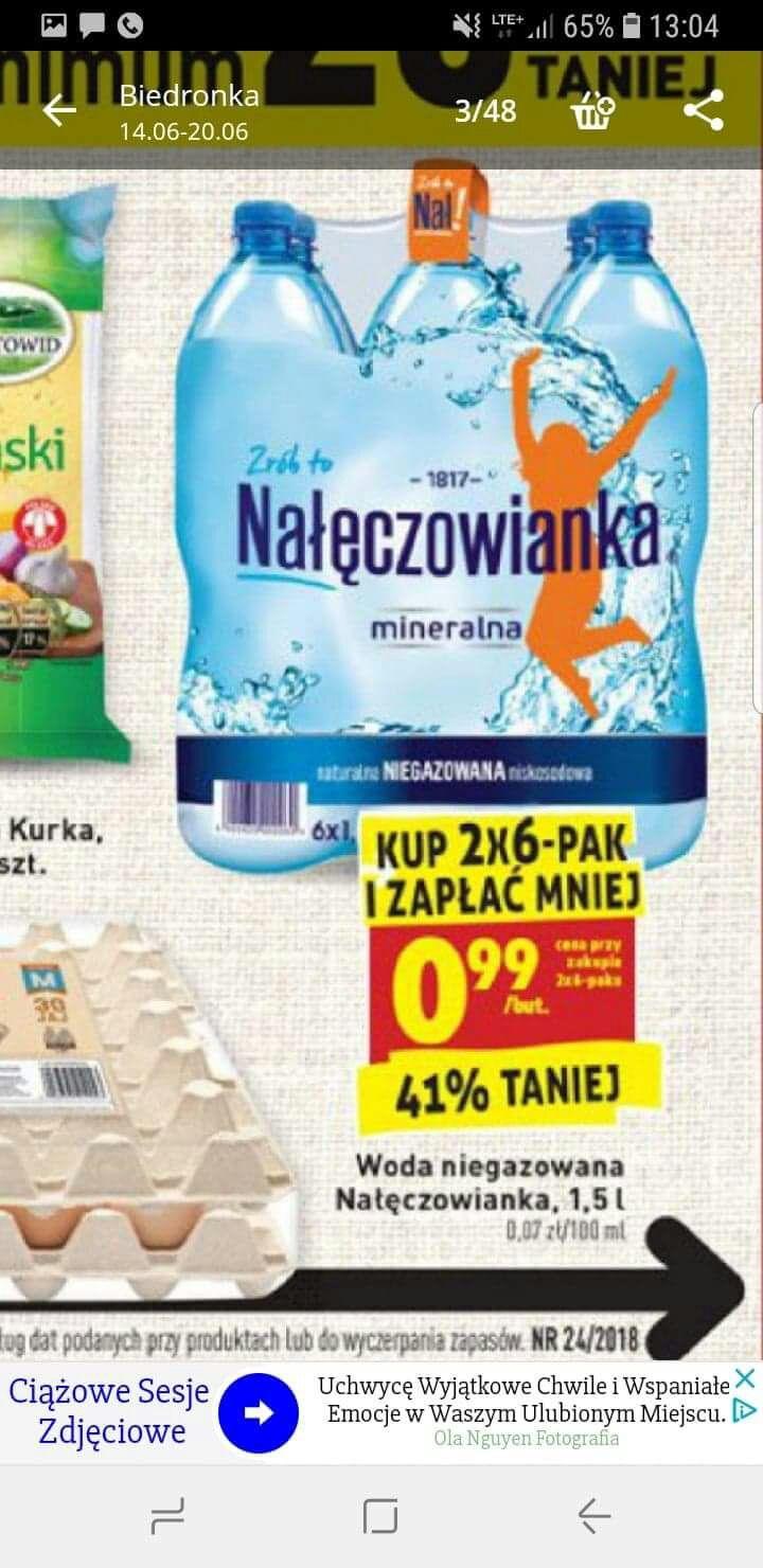 Woda Nałęczowianka 1,5l nie gazowana