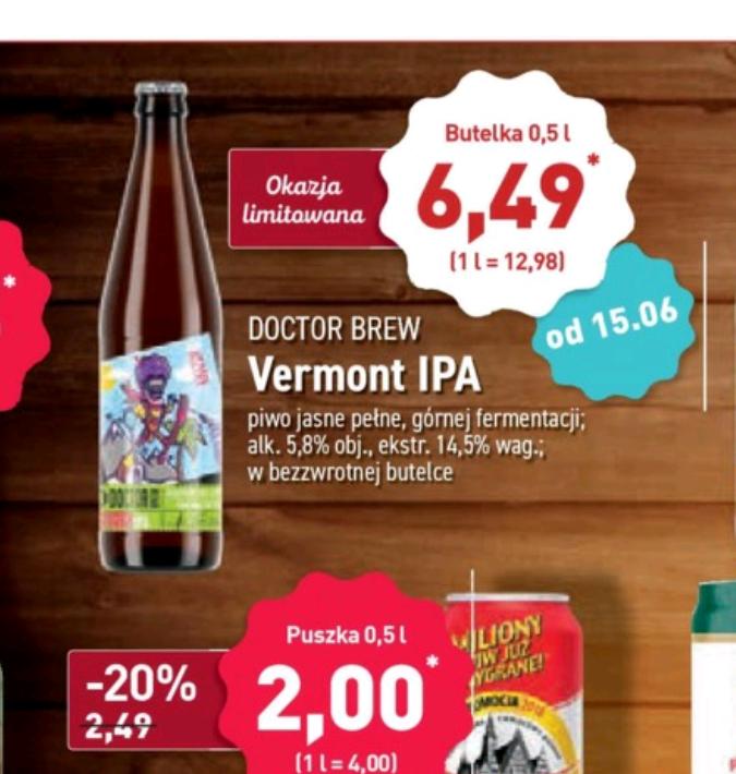 Doctor Brew Vermont IPA w Aldi za 6,49