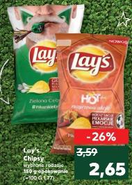 Czipsy Lay's 150 g- wybrane rodzaje Kaufland