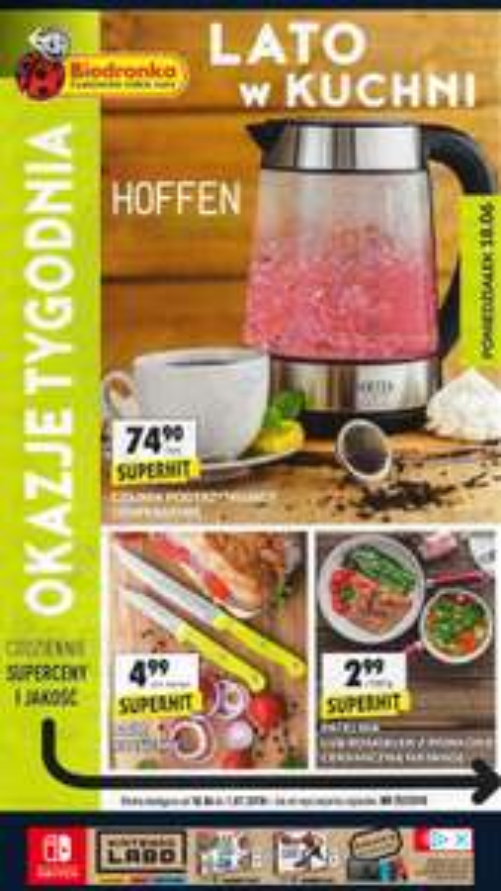 Hoffen szklany czajnik z regulacją temperatury Biedronka