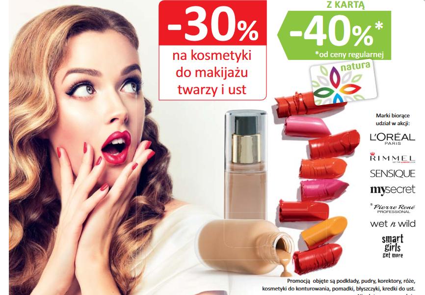 -40% na kosmetyki do makijażu twarzy i ust @ Natura