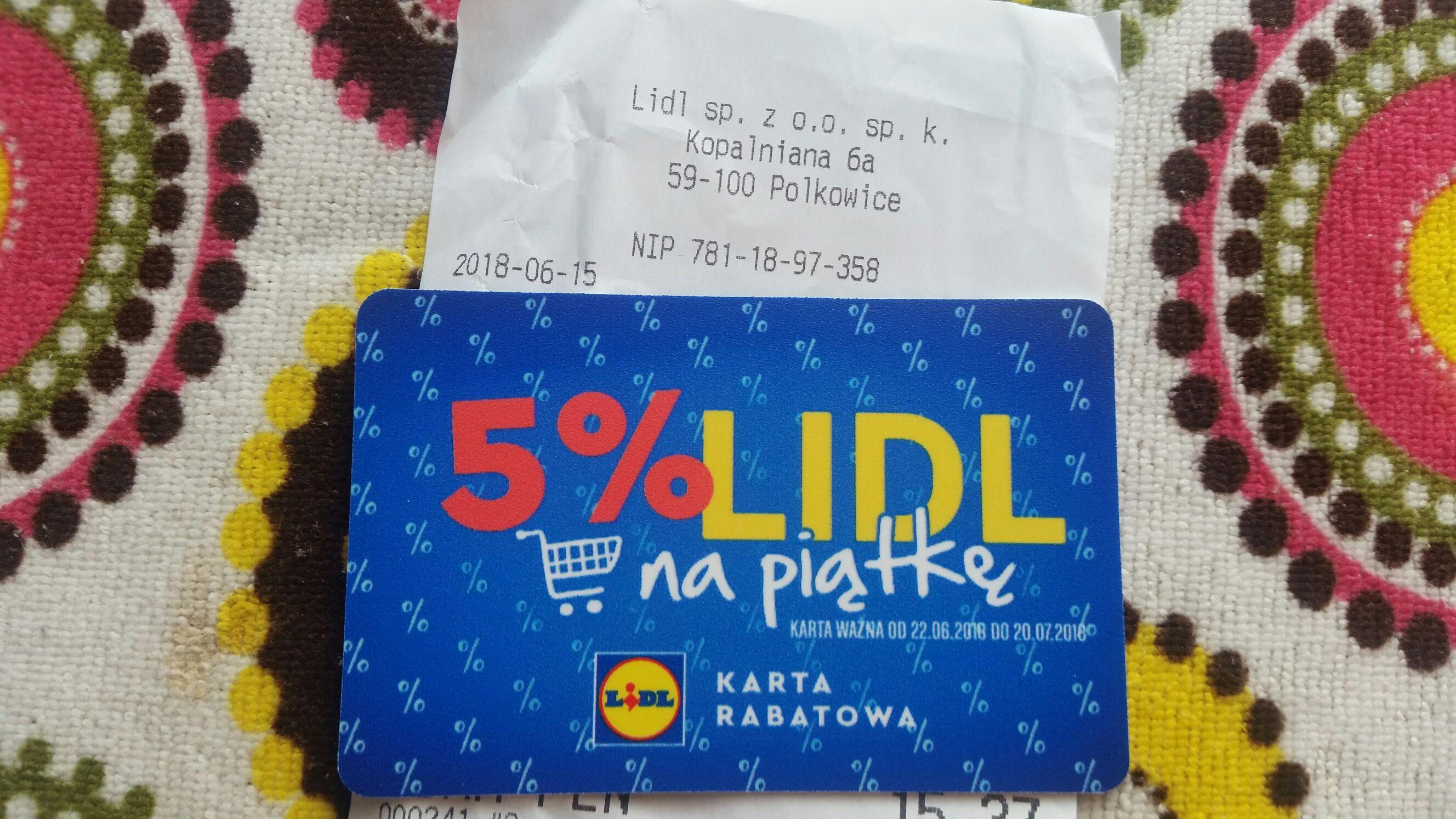 Karta rabatowa za zakupy w Lidlu
