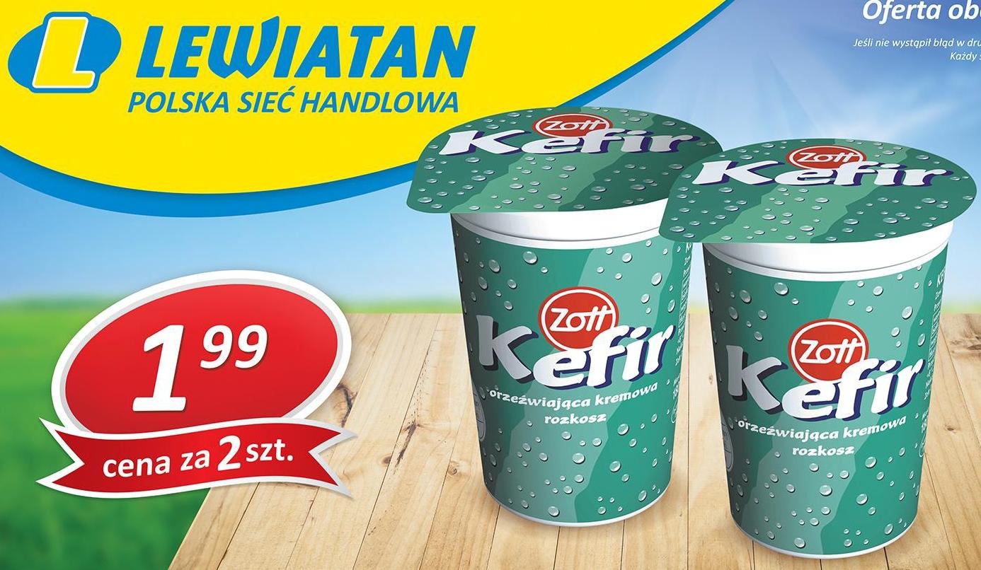 [Małopolska] 2 kefiry Zott 400g (1+1 gratis)