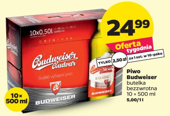 10x piwo Budweiser Classic (2,50 zł za 1) @ Netto